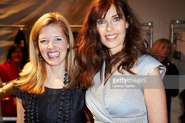 Lela Rose and Carol Alt attend Lela Rose Fall 2010 during MercedesBenz Fashion Week at Bryant Park on February 14 2010 in New York City