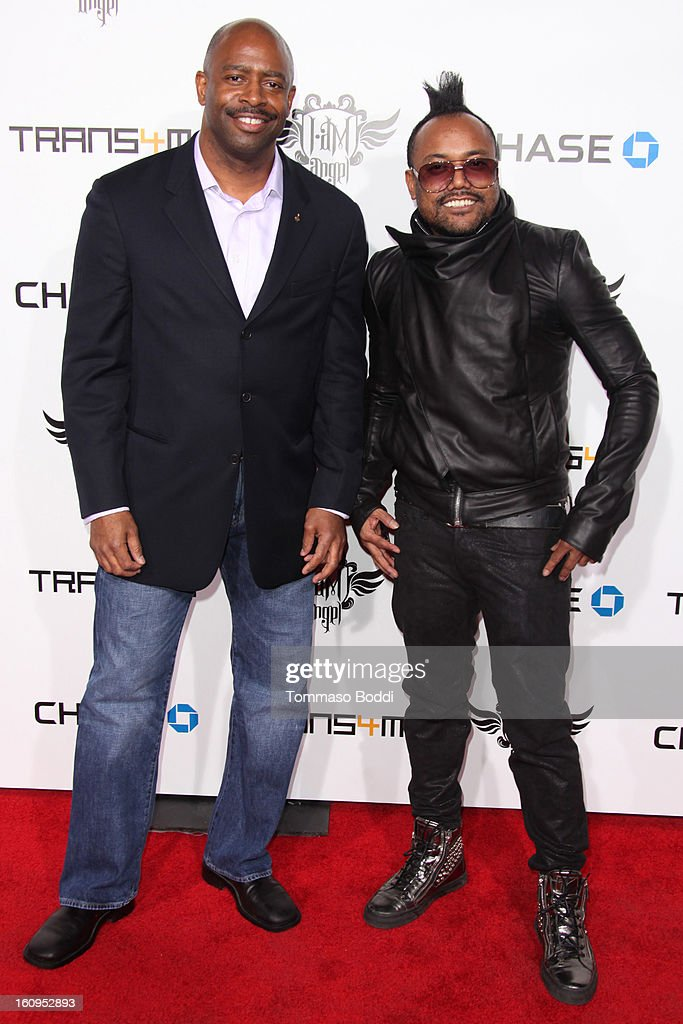 Leland Melvin (L) and Apl.de.ap attend the 2nd Annual Will.i.am TRANS4M Boyle Heights benefit concert held at Avalon on February 7, 2013 in Hollywood, California.