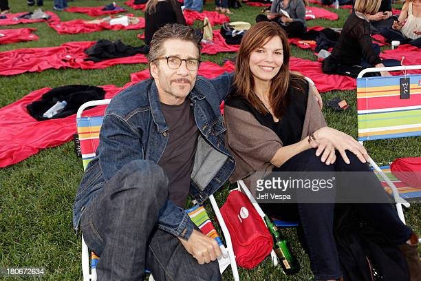 Leland Orser and Jeanne Tripplehorn attend Eddie Vedder and Zach Galifianakis Rock Malibu Fundraiser for EBMRF and Heal EB on September 15 2013 in...