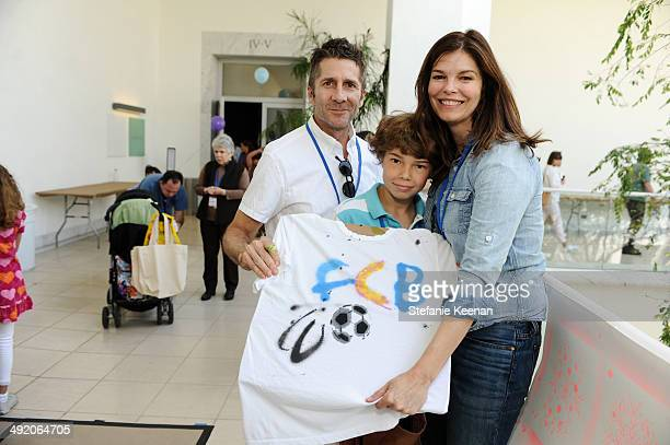 Leland Orser and Jeanne Tripplehorn attend Hammer Museum KAMP 2014 on May 18 2014 in Los Angeles California