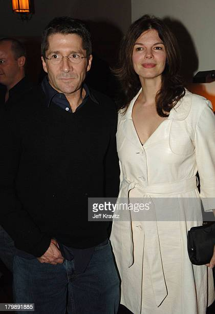 Leland Orser and Jeanne Tripplehorn during HBO's Annual PreGolden Globes Private Reception at Chateau Marmont in Los Angeles California United States