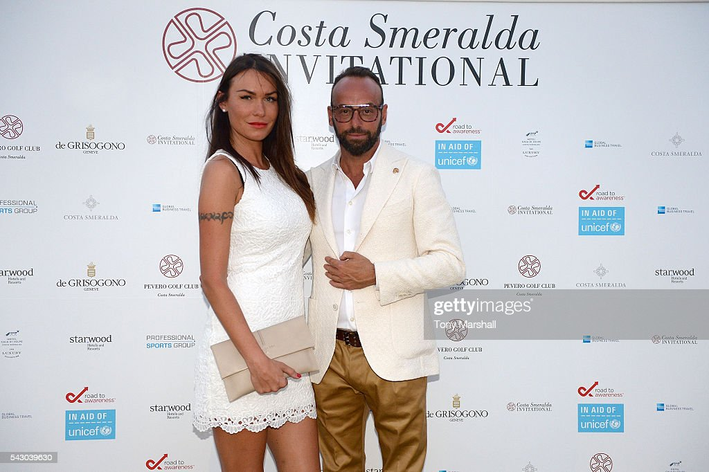 Lele Danzi and guest attend the Gala Dinner during The Costa Smeralda Invitational golf tournament at Pevero Golf Club - Costa Smeralda on June 25, 2016 in Olbia, Italy.