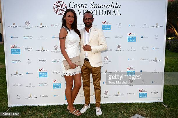 Lele Danzi and guest attend the Gala Dinner during The Costa Smeralda Invitational golf tournament at Pevero Golf Club Costa Smeralda on June 25 2016...