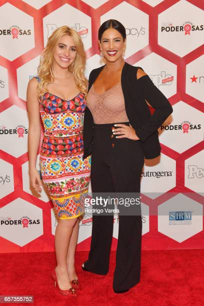 Lele Pons and Gaby Espino attends People En Espanol's 25 Most Powerful Women Luncheon 2017 at Hyatt Regency on March 24 2017 in Coral Gables Florida