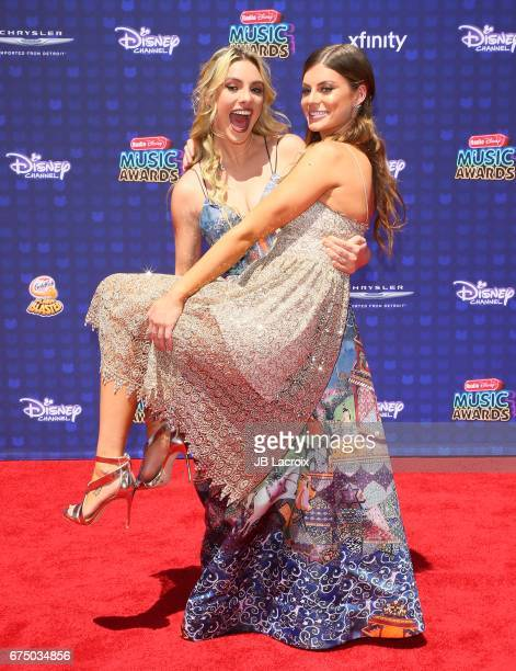 Lele Pons and Hannah Stocking attend the 2017 Radio Disney Music Awards on April 29 2017 in Los Angeles California