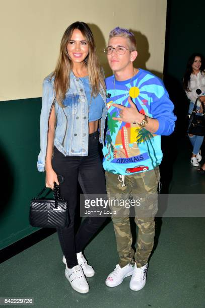 Lele Pons and Lenny Tavarez backstage at the VZLA Suena 2017 at Watsco Center on September 2 2017 in Coral Gables Florida