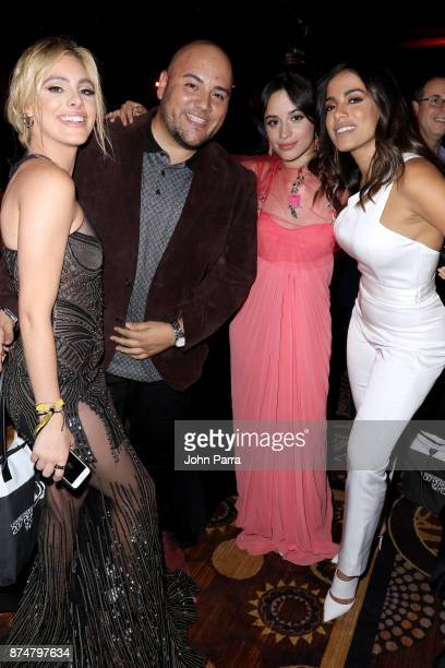 Lele Pons guest Camila Cabello and Anitta attend the 2017 Person of the Year Gala honoring Alejandro Sanz at the Mandalay Bay Convention Center on...