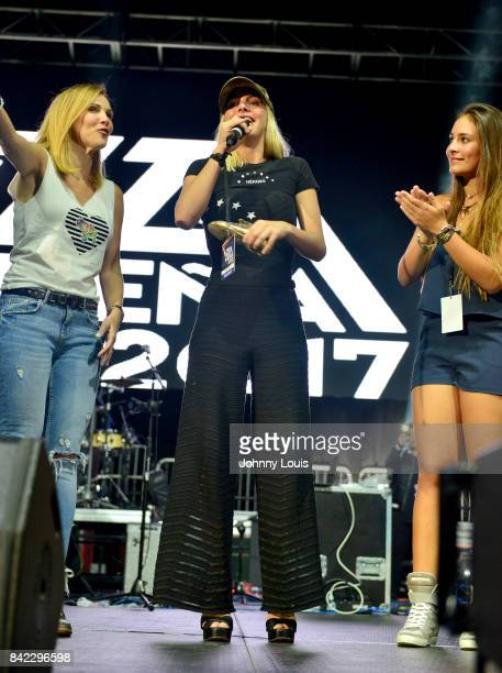 Lele Pons on stage at the VZLA Suena 2017 at Watsco Center on September 2 2017 in Coral Gables Florida