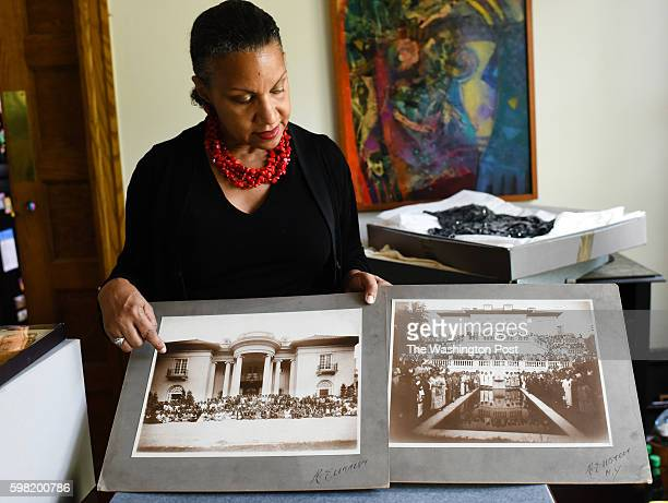 Lelia Bundles of DC is a descendant of Madam C J Walker who was the first black woman millionaire in the United States Bundles looks at two pictures...