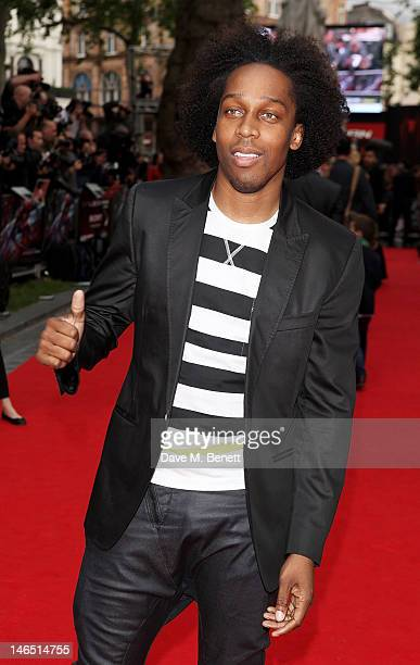 Lemar arrives at the UK Premiere of 'The Amazing SpiderMan' at Odeon Leicester Square on June 18 2012 in London England