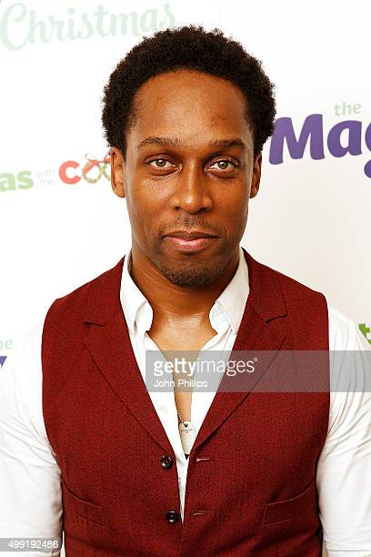 Lemar backstage at Magic Radios festive concert The Magic of Christmas at London Palladium on November 29 2015 in London England