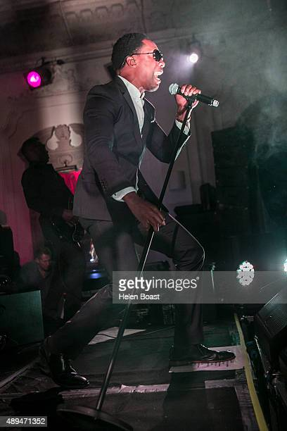Lemar performs at Bush Hall on September 21 2015 in London England