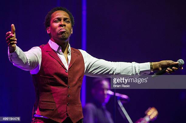 Lemar performs at Eventim Apollo on November 29 2015 in London England