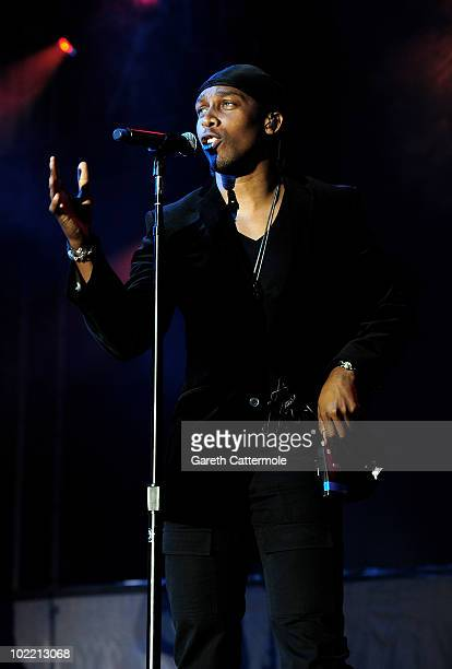 Lemar performs at the Isle Of Man Bay Festival on June 18 2010 in Douglas Isle Of Man
