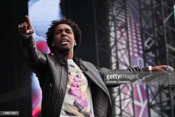 Lemar performs on stage during BT London Live at Hyde Park on August 6 2012 in London United Kingdom