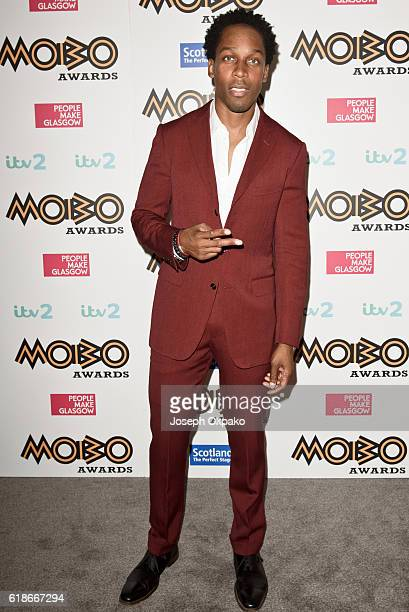 Lemar poses backstage at Cadogan Hall for the PreMOBO Awards Show on October 27 2016 in London England