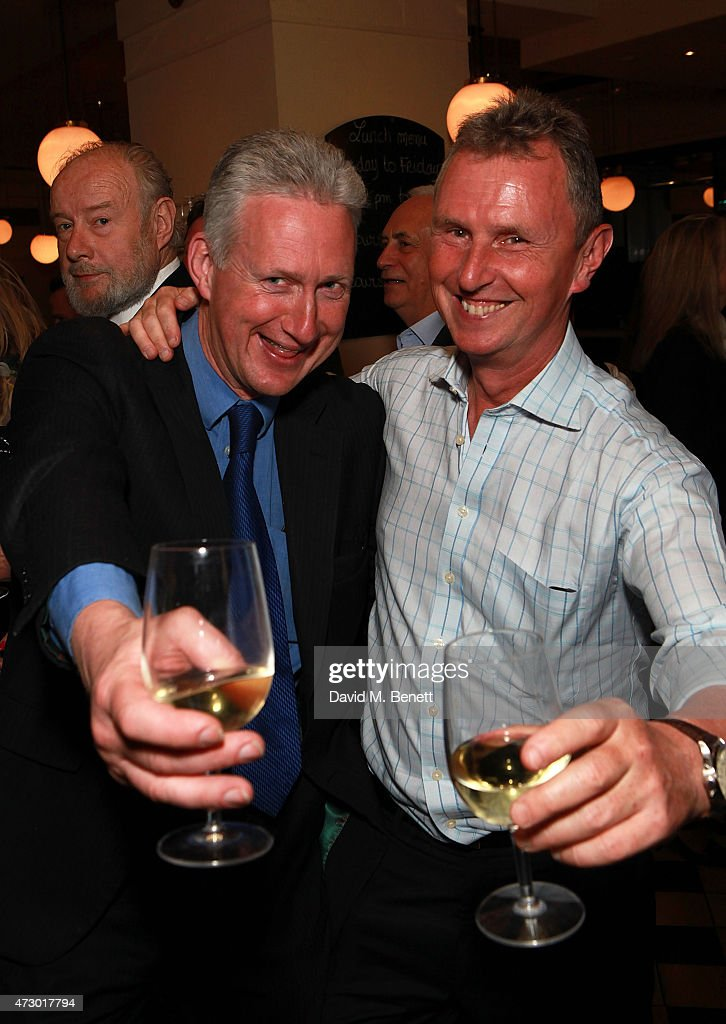 <a gi-track='captionPersonalityLinkClicked' href=/galleries/search?phrase=Lembit+Opik&family=editorial&specificpeople=2485705 ng-click='$event.stopPropagation()'>Lembit Opik</a> and <a gi-track='captionPersonalityLinkClicked' href=/galleries/search?phrase=Nigel+Evans&family=editorial&specificpeople=2486752 ng-click='$event.stopPropagation()'>Nigel Evans</a> attend the launch of 'Sod The Bitches!' by Steven Berkoff at La Brasserie on May 11, 2015 in London, England.