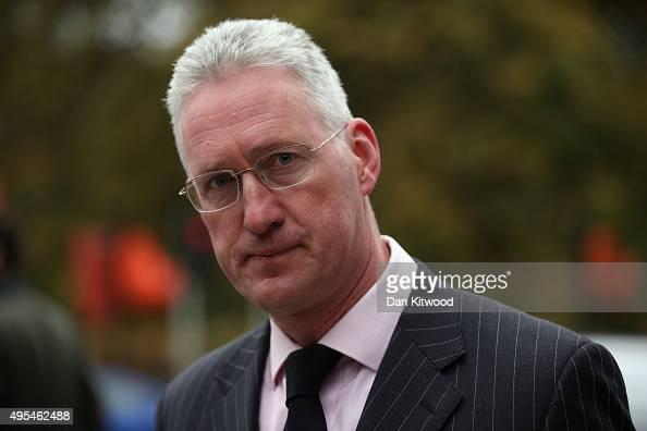 Lembit Opik arrives at St Georges Cathedral for a memorial service for former Liberal Democrat leader Charles Kennedy on November 3 2015 in London...