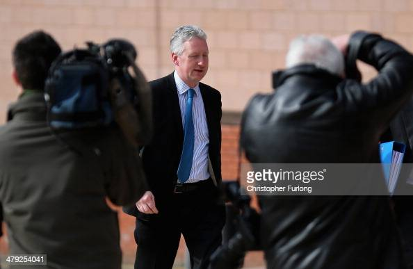 Lembit Öpik arrives at Preston Crown Court where he is appearing as a witness in the trial of former deputy speaker of the House of Commons Nigel...