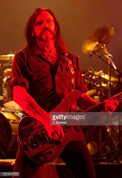 Lemmy from Motorhead during Motorhead and Sepultura in Concert November 27 2004 at Hammersmith Apollo in London Great Britain