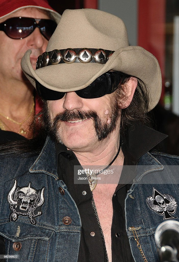 Lemmy Kilmister of Motorhead attends The Scorpions' induction into the Hollywood RockWalk on April 6, 2010 in Hollywood, California.