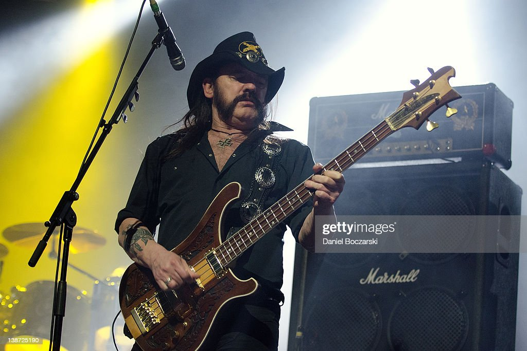 Lemmy Kilmister of Motorhead performs at the Aragon Ballroom on February 10, 2012 in Chicago, Illinois.