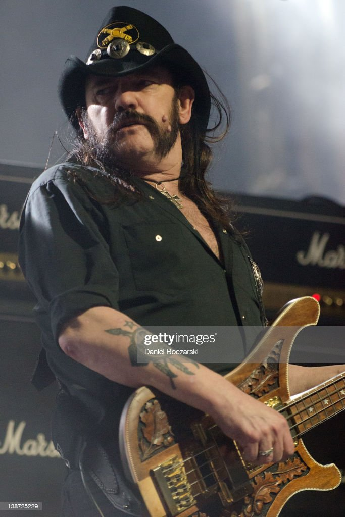 <a gi-track='captionPersonalityLinkClicked' href=/galleries/search?phrase=Lemmy+Kilmister&family=editorial&specificpeople=213644 ng-click='$event.stopPropagation()'>Lemmy Kilmister</a> of Motorhead performs at the Aragon Ballroom on February 10, 2012 in Chicago, Illinois.