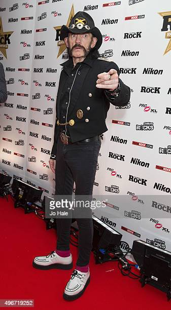 Lemmy of Motorhead attends the Classic Rock Roll of Honour at The Roundhouse on November 11 2015 in London England