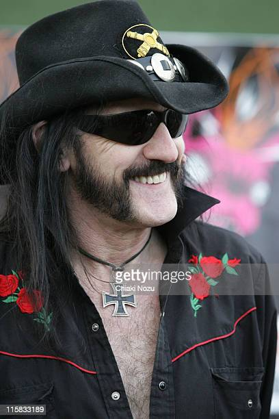 Lemmy of Motorhead during Download Festival Day 3 at Donington Park International Conference Exhibition Centre in Castle Donington Great Britain