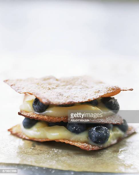 Lemon and blueberry pastry
