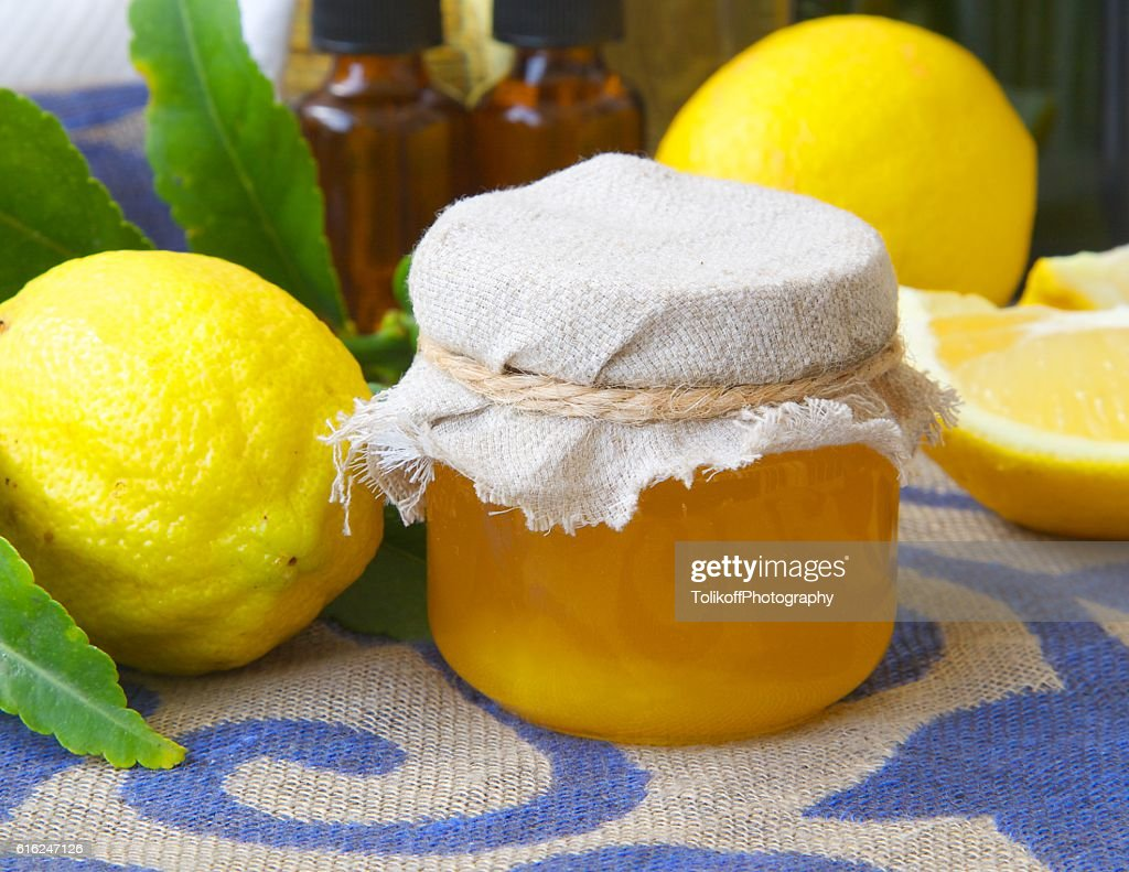 Lemon blossom honey : Foto de stock