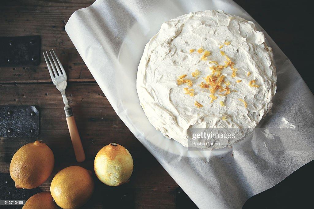 Lemon cake from above