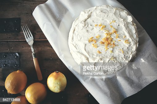 Lemon cake from above
