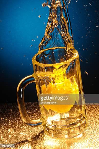 Lemon Drop Drink in Beer Mug