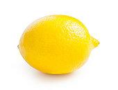 Lemon. One ripe lemon isolated on white background