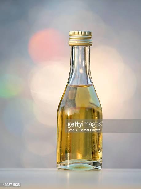 Lemon liquor bottle alcohol