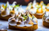 Lemon meringue tart. Delicious dessert