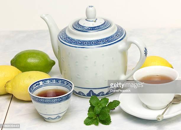 Thé à la menthe au citron