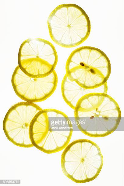 Lemon on White
