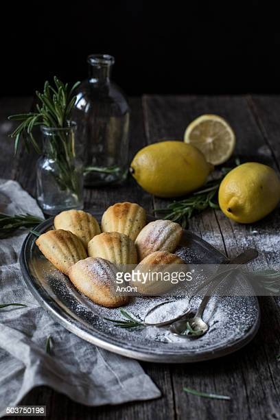 Lemon rosemary madeleines