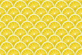 huge detailed background made from many lemon slices, seamless pattern