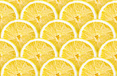 detailed background made from many lemon slices, seamless pattern