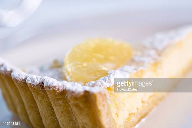 Lemon Tart dusted with icing sugar