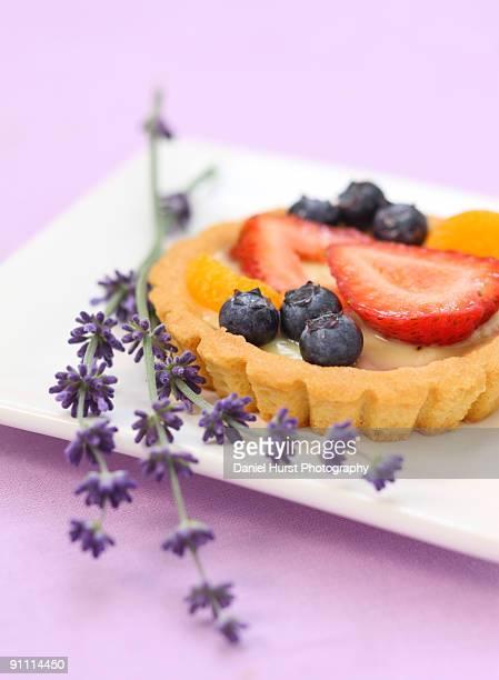 Lemon tart with fresh berries