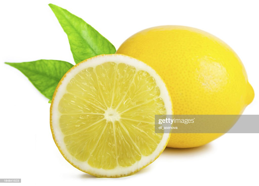 Lemon with leafs : Stock Photo