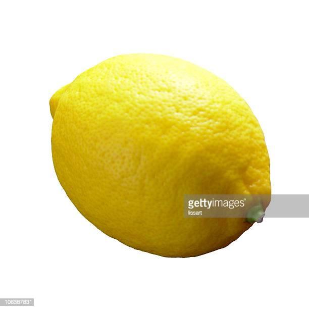 Lemon with white background
