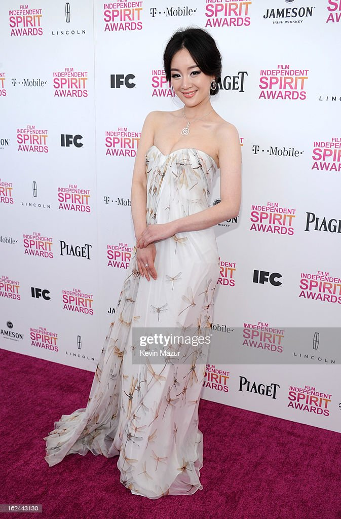 Lemon Zhang attends the 2013 Film Independent Spirit Awards at Santa Monica Beach on February 23, 2013 in Santa Monica, California.