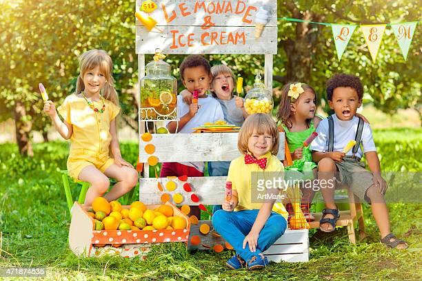 Limonade und Eiscreme-stand