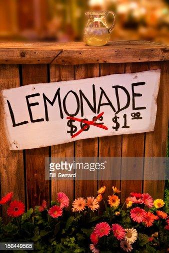 Lemonade Stand : Foto de stock