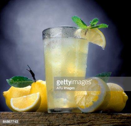 Lemonade with lemons